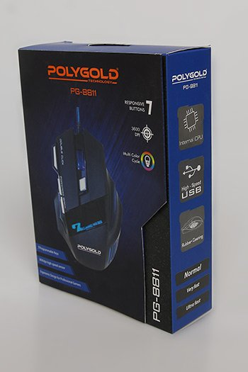 Polygold Pg-8811 Oyuncu Mouse Siyah