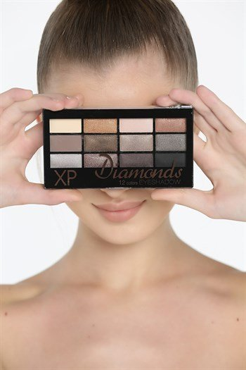 Xp Eyeshadow Diamonds 12 Li Parlak Far Standart